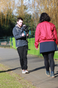 Jack buck filming his music video words